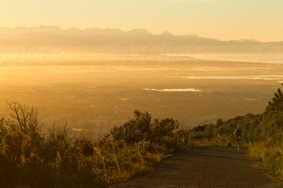 Running and mountain bike challenge in Cape Town