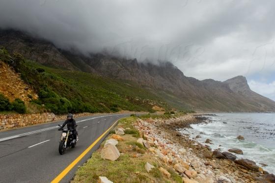 Guy on motor bike
