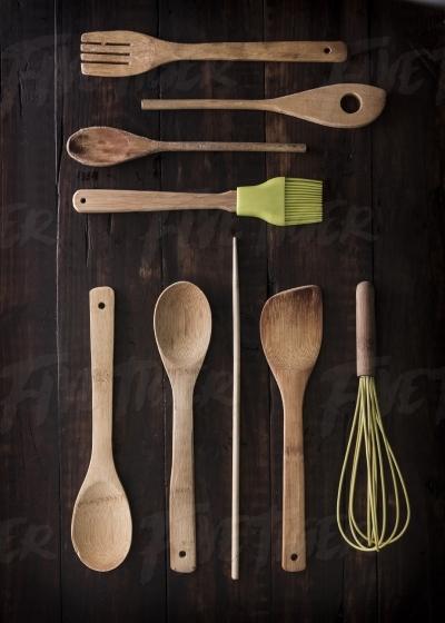 Set lay of kitchen equipment