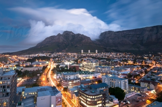 Cape Town City view at night