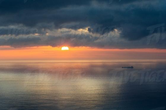 Sunset over the Atlantic Ocean