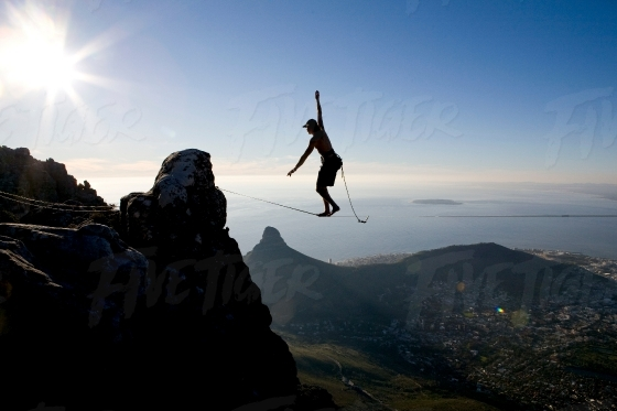 Slacklining in Cape Town