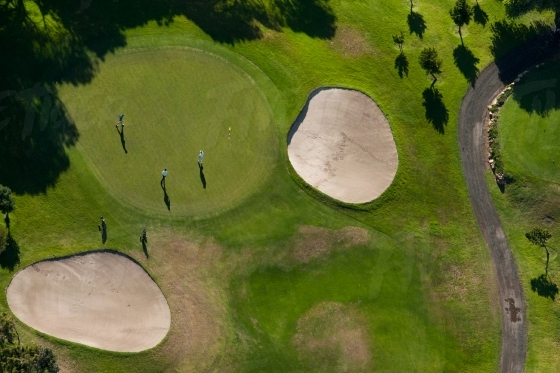 Aerial of a golf course