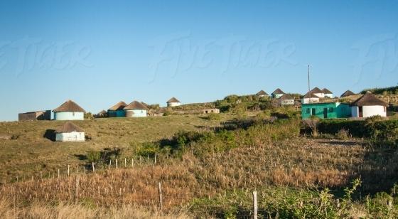 Xhosa hut landscape