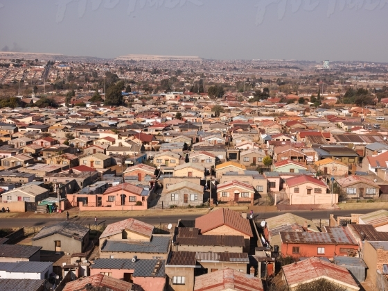View over Johannesburg low cost housing suburb