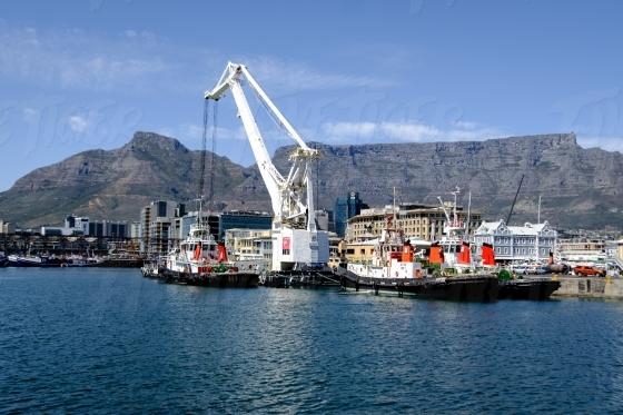 Tug boats and crane