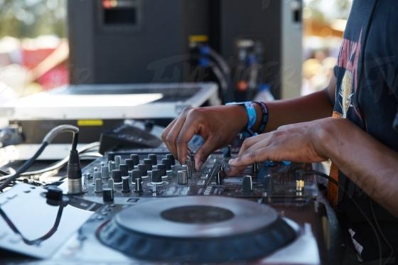DJ at a music festival