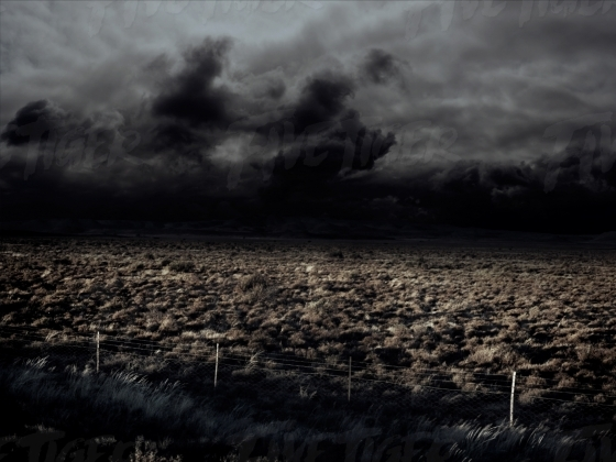 Dramatic arrid landscape