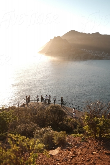 Visitors on Chapman's Peak