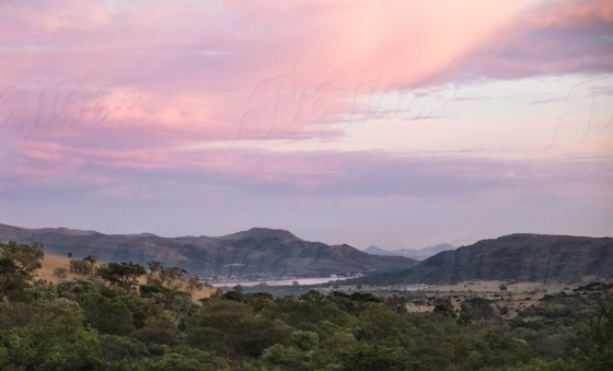 Buffelspoort dam pink sunset