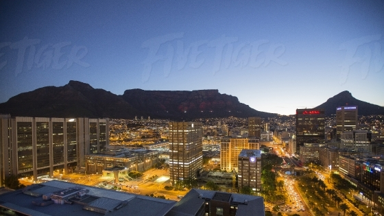 Cape Town CBD Cityscape at night