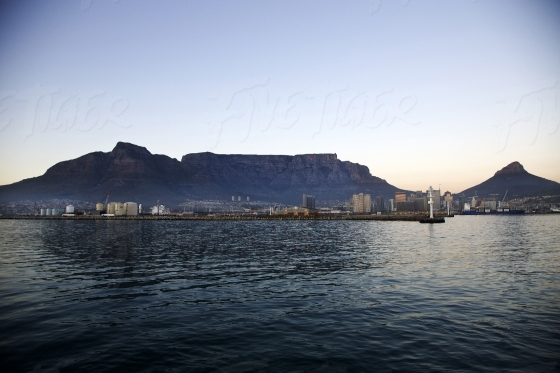 Table Mountain over water