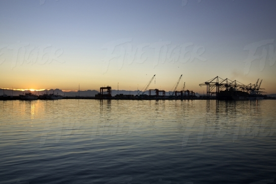 Sunset over Cape Town Harbour