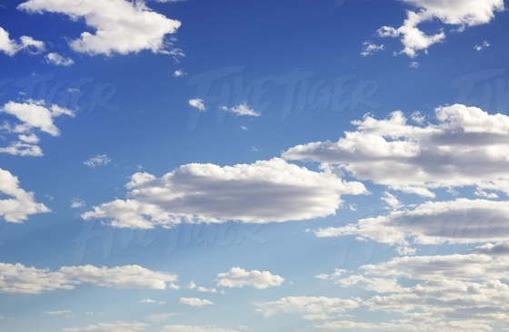 Blue Sky dotted with clouds