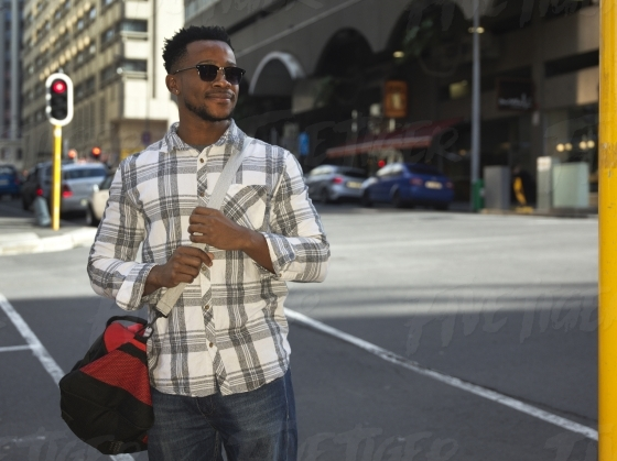 South African man in the city