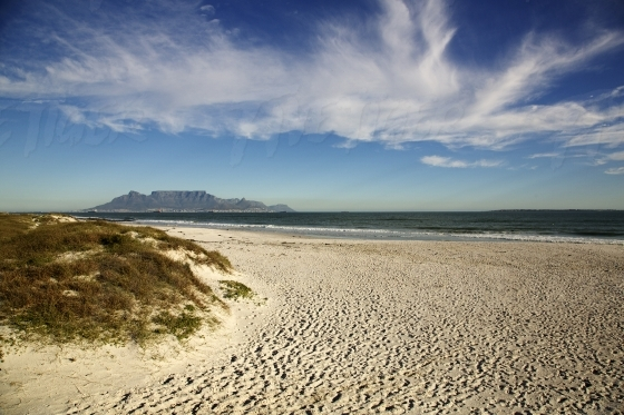 Table Mountain from the beach