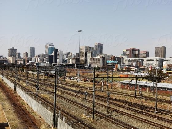 Railway lines in Johannesburg