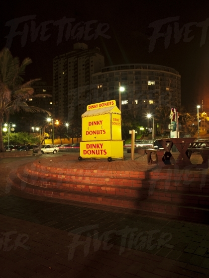 Donut vendor in Durban