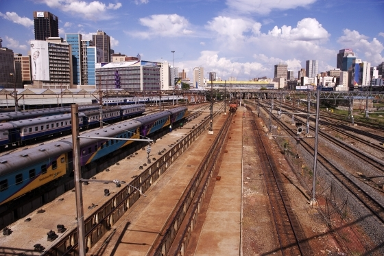 Train tracks of Johannesburg