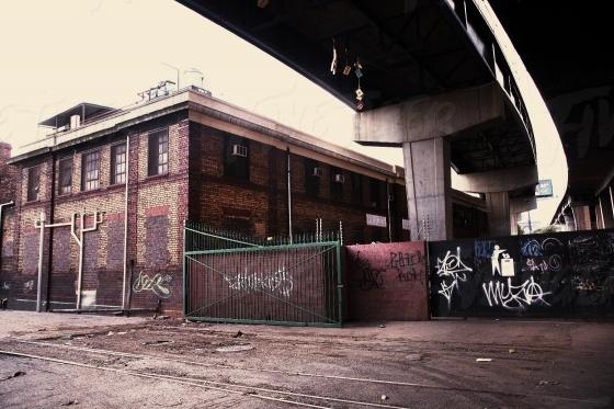 Grungy wall with Graffiti