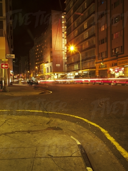 Inner city at night
