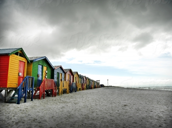 Colourful houses in Muizenberg