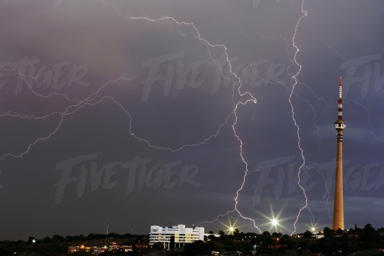 Lightning strikes in Johannesburg