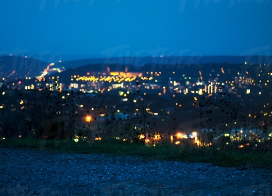 Blurred night shot of the city