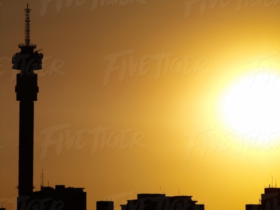 Silhouette of the Hillbrow Tower