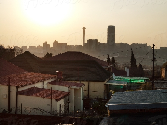 The Johannesburg skyline in the afternoon