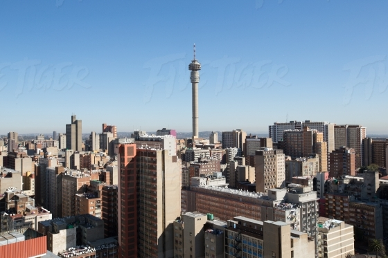 Hillbrow tower above other buildings