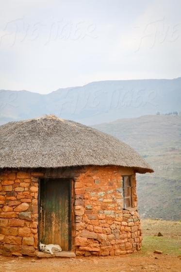 Round hut on a hilltop