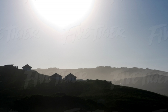 Sunset view of a little coastal rural town in the Transkei