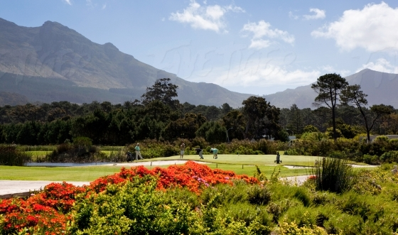 Steenberg golf estate with mountain backdrop
