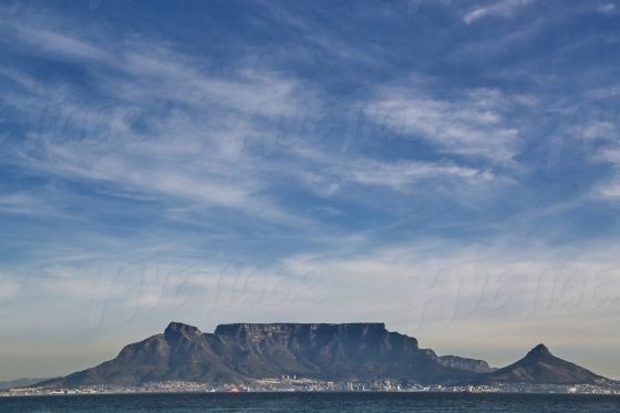 Table Mountain from Robbin Island
