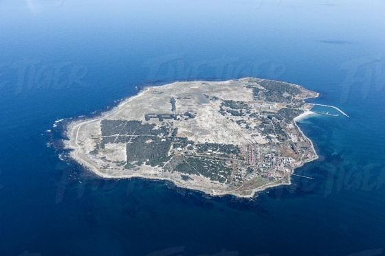 Aerial view of Robben Island