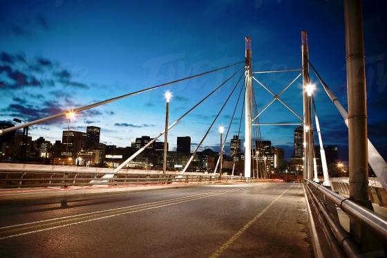Nelson Mandela Bridge at Twilight