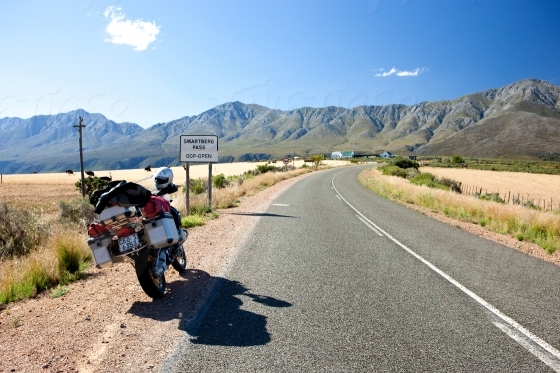 Road trip on a motor bike